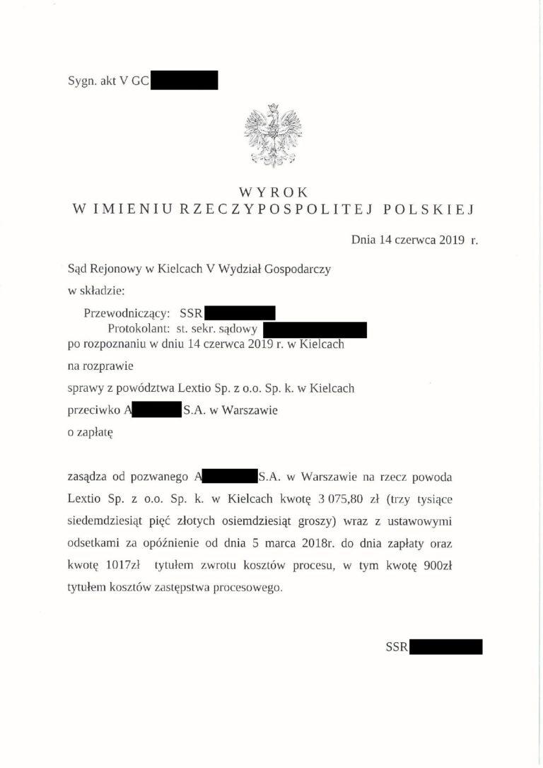 zwrotyprowizji.pl wyniki spraw sądowych o zwrot prowizji (1)