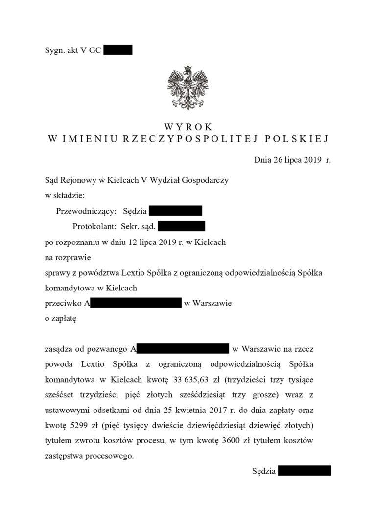 zwrotyprowizji.pl wyniki spraw sądowych o zwrot prowizji (3)