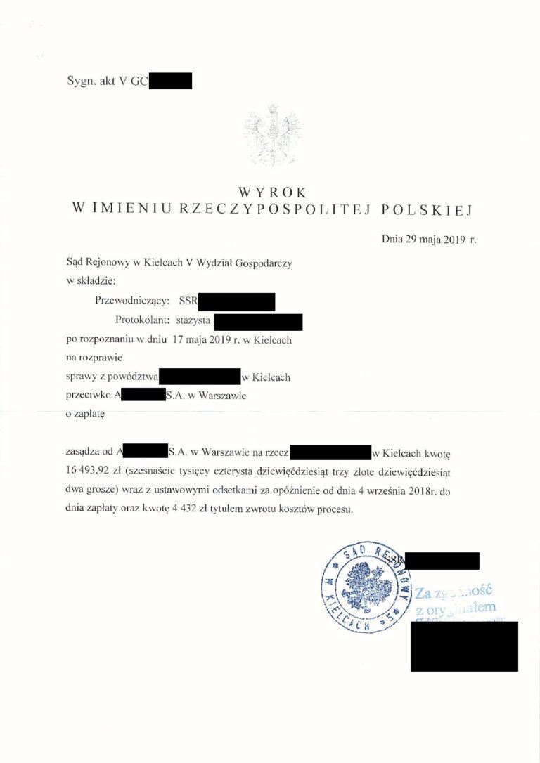 zwrotyprowizji.pl wyniki spraw sądowych o zwrot prowizji (4)