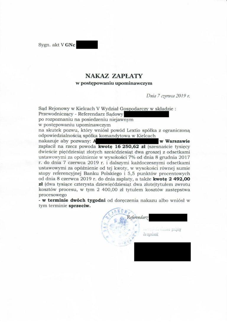 zwrotyprowizji.pl wyniki spraw sądowych o zwrot prowizji (6)