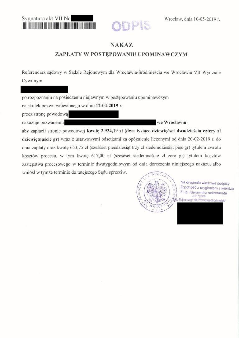 zwrotyprowizji.pl wyniki spraw sądowych o zwrot prowizji (7)