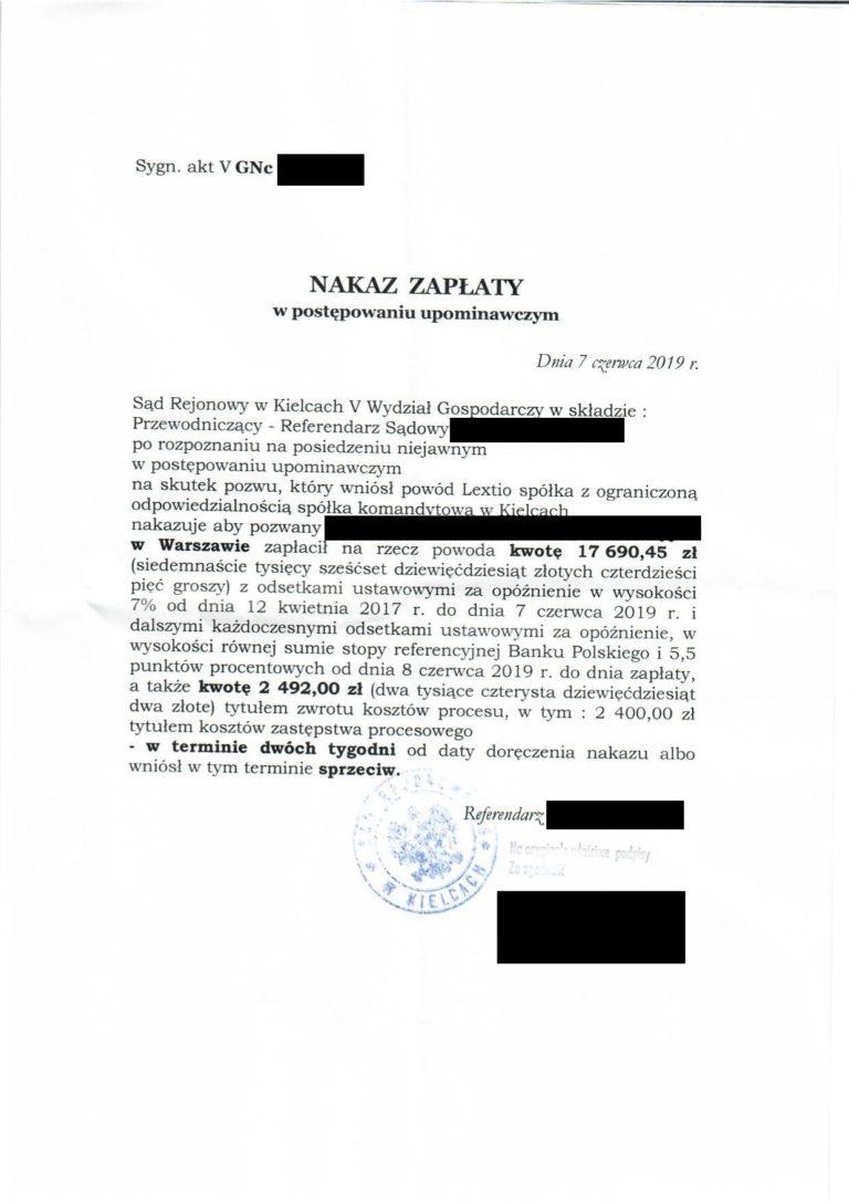 zwrotyprowizji.pl wyniki spraw sądowych o zwrot prowizji (8)